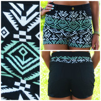 Lake Cortez Tribal High Waist Shorts