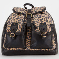 T-Shirt & Jeans Canvas Leopard Backpack Brown One Size For Women 20590240001