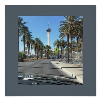 Las Vegas Palm Trees Poster
