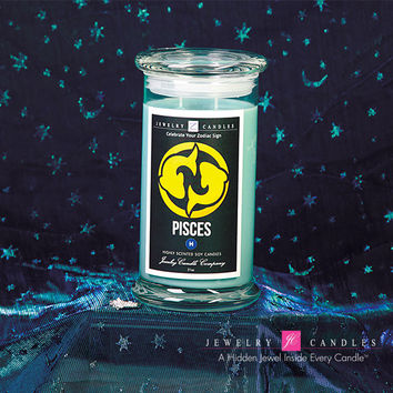 Pisces Zodiac Sign Jewelry Candle (February 19 - March 20)