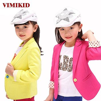 New spring kids suits jacket for girls, Children casual coats, Fashion trench girl blazers kids clothing