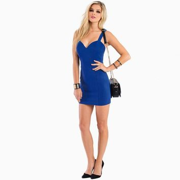 Summer Sexy Club Women's Fashion Slim Spaghetti Strap One Piece Dress [4966237252]