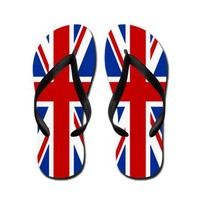 Union Jack Flip Flops by BRITSHOP