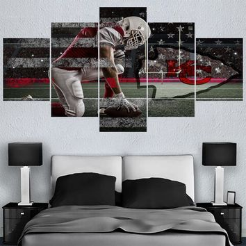 Sport Football Kansas City Chiefs Logo Paintings Wall Home Decor Picture Canvas Painting Calligraphy For Living Room Bedroom