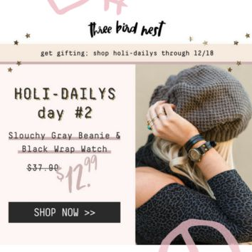 Holi-Daily Watch & Beanie Set - DAY 2
