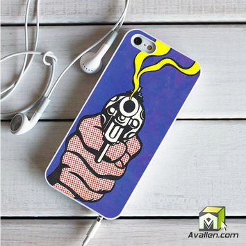 Roy Lichtenstein - Gun in America iPhone 5|5S case by Avallen