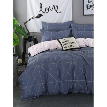 Geometric Print Duvet Cover Set