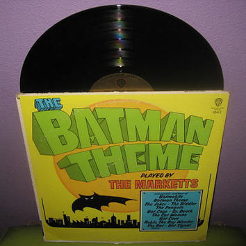 Vinyl Record Album The Batman Theme by The Markettes LP 1966 TV Classics MONO