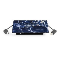 4000 mAh Portable Power Bank Phone Charger - Black Panther Marble