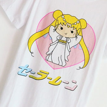 Sailor Moon Pastel Shirt - One Size