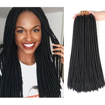 Faux Locs Crochet Hair Different Colors Available (18 Inches)