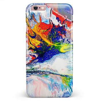 Bright White and Primary Color Paint Explosion iPhone 6/6s or 6/6s Plus INK-Fuzed Case