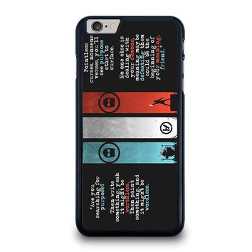 twenty one pilots kitchen sink iphone 6 6s plus case cover  number 1