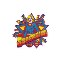 Supergirl Pop Art Iron-On Patch