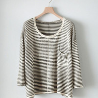 Poetry - Printed Stripe Sweater