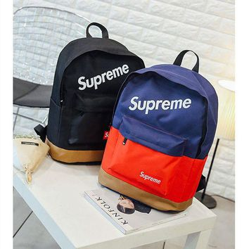 Supreme Color Blocking Backpack School Bag