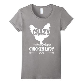 94745402 Women's Crazy Chicken Lady-Funny Farmer / Farming T-Shirt