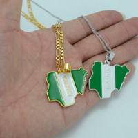 Nigeria Flag Map Pendant Necklaces for Women / Men Gold Plated & Silver Jewelry Country Nigerians Map Chain Jewellery #008506-in Pendant Necklaces from Jewelry & Accessories on Aliexpress.com | Alibaba Group
