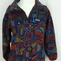 Vintage Patagonia USA Tribal Aztec Indian Blanket Fleece Mens Jacket - S Small