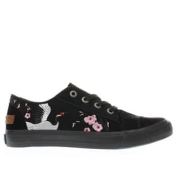 blowfish black maki velvet trainers