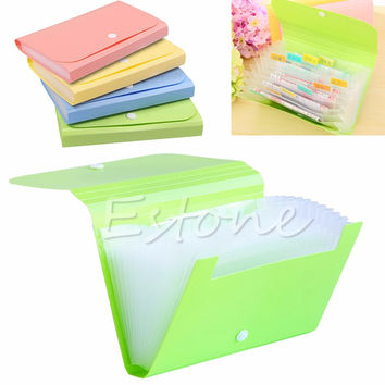 Plastic Bills Receipts File Document Case Bag Pouch Folder Card Holder Organizer Tool Case