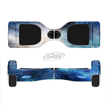 The Blue & Gold Glowing Star-Wave Full-Body Skin Set for the Smart Drifting SuperCharged iiRov HoverBoard