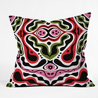 Andi Bird Beat Goes On Red Throw Pillow