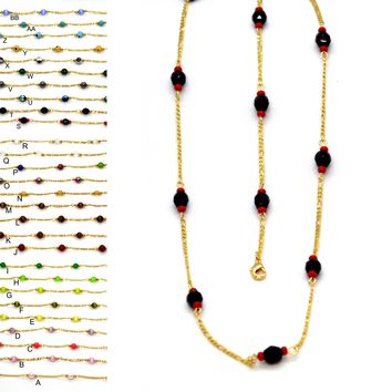 (1-3901-3902-h9) Gold Overlay Colored Bead Set.