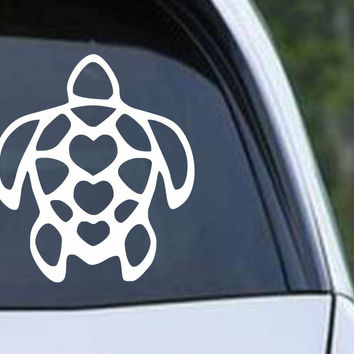 Turtle Heart Die Cut Vinyl Decal Sticker