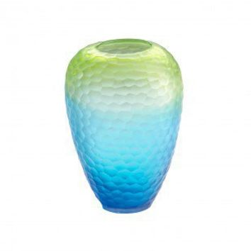 Cyan Designs Small Christo Vase in Blue and Green - 04481 - Vases - Decorative Accents - Decor