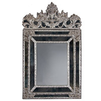 Large and Impressive Silvered Mirror