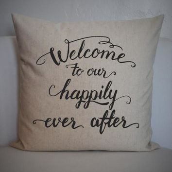 Happily ever after pillow cover