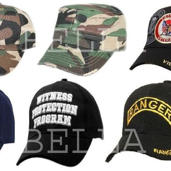 Adjustable Hat BaseBall Cap CAMOUFLAGE HUNTER STAFF POLICE SECURITY WPP FIRE DEP
