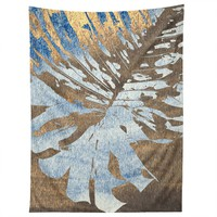 Deb Haugen Monstera Gold Tapestry