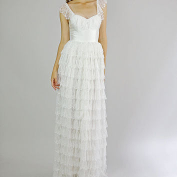 Fiona -- Silk and Lace Wedding Dress