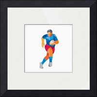 """Rugby Player Running Low Polygon"" by Aloysius Patrimonio"