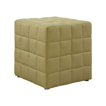 Ottoman - Light Gold Linen-Look Fabric
