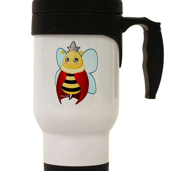 Queen Bee Mothers Day Stainless Steel 14oz Travel Mug by TooLoud