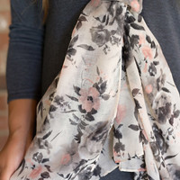 Raindrops On Roses Scarf