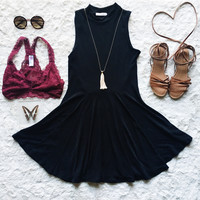 A Flouncy Fit and Flare in Black
