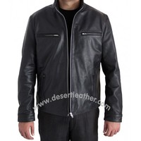 Furious 7 Vin Diesel Black Leather Jacket