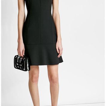 Fitted Dress with High Neckline - Hugo | WOMEN | US STYLEBOP.COM