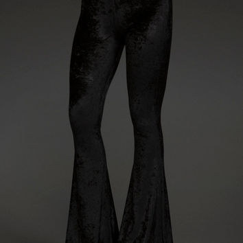Crushed Velvet Bell Bottom Pants