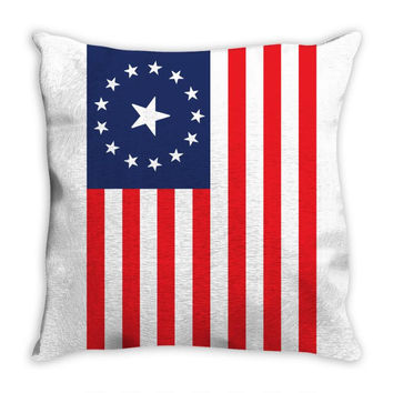 Fallout 3 American Flag Throw Pillow