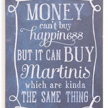 Primitives by Kathy 'Money Can't Buy Happiness' Box Sign