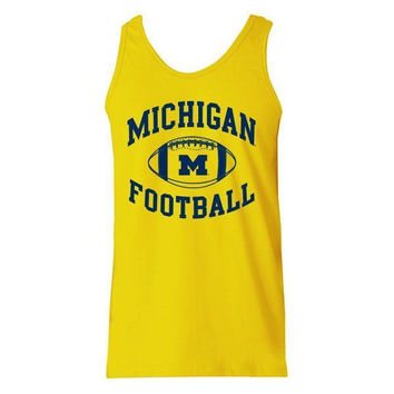 Michigan Football Tank - Yellow