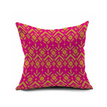 Cotton Flax Pillow Cushion Cover Geometry    JH228