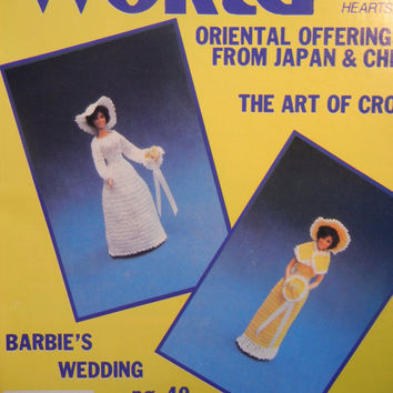Vintage Crochet Magazines: Barbie Doll Wedding, Crocheted Umbrella for Bridal Shower Baby Shower (June 1981 and Summer 1982)