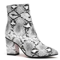 Faux Snake Skin Ankle Booties