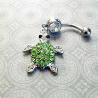 Sea Turtle Belly Button Ring